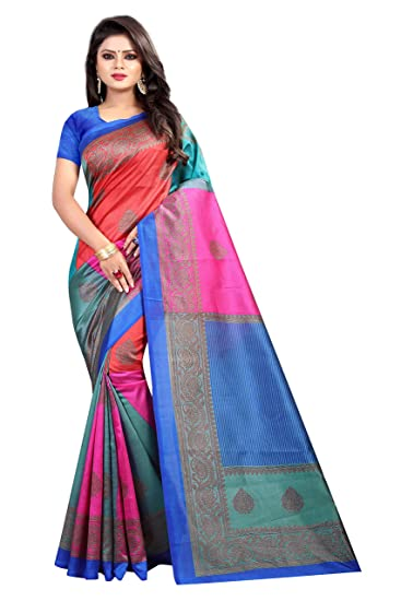 575e2d9471b603 Kanchan Women s Mysore Art Silk Saree with Blouse (4 SQUARE