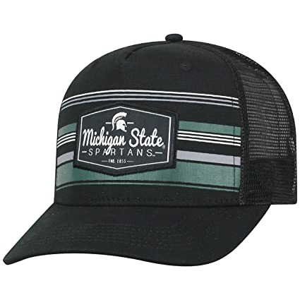 buy online ae90e f498c Image Unavailable. Image not available for. Color  Top of the World  Michigan State Spartans Route Trucker Adjustable Snapback Hat Black