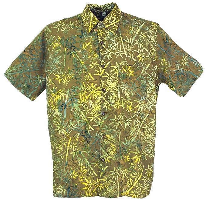 GURU-SHOP, Camisa Hippie, Camisa Bali Batik, Sintético, Camisas de Hombre: Amazon.es: Ropa y accesorios