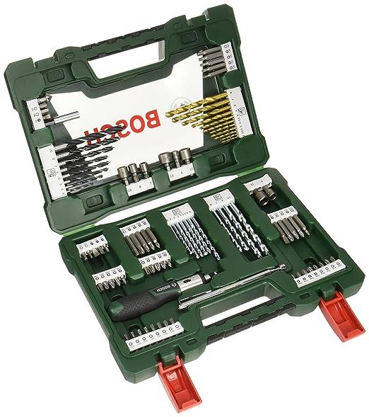 40 opinioni per Bosch, Set di punte per trapano e chiavi, 91 pz.- 2607017195