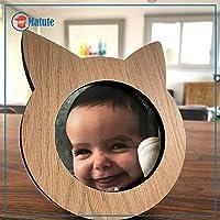 Porta retrato de madera en forma de gato marca Matute