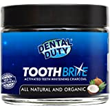 All Natural Activated Teeth Whitening Charcoal Powder - Made in USA - REMOVES TOOTH STAINS and BAD BREATH. More Effective Than Tooth Whitener Strips, kits and Toothpaste.