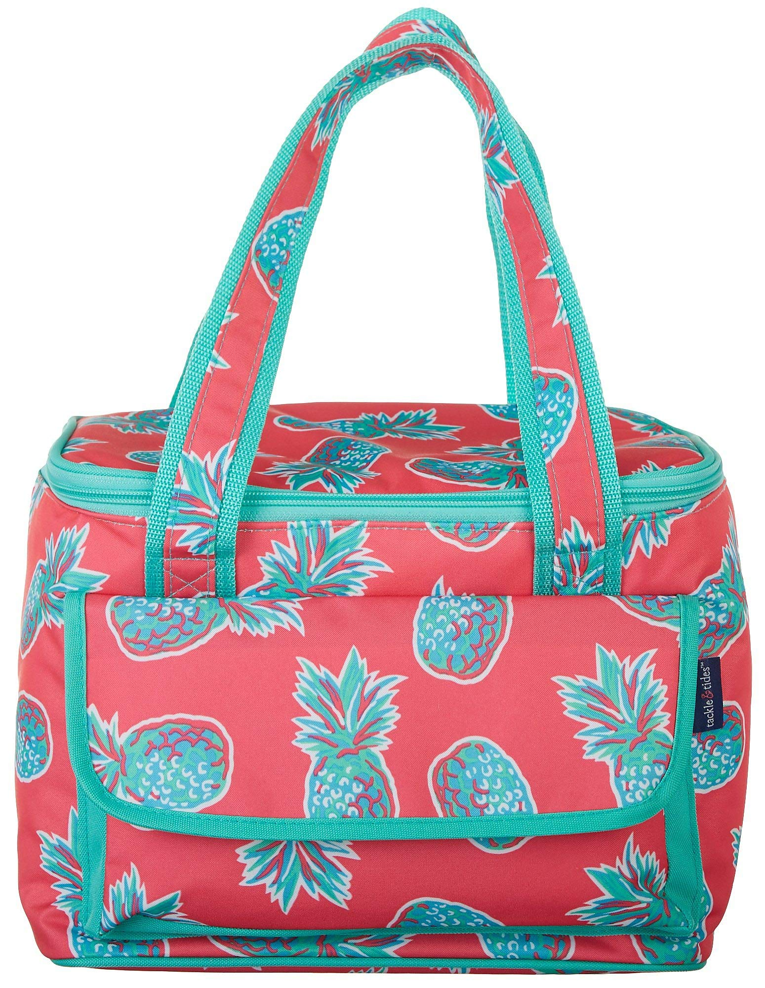 Tackle & Tides Pineapple 16 Can Cooler Tote One Size Aqua Blue//Pink