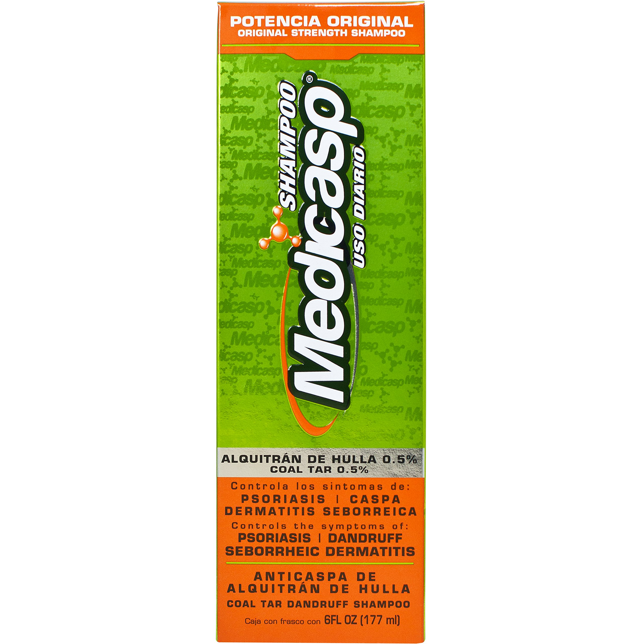 Medicasp Coal Tar Gel Anti-Dandruff Shampoo - Treats Dandruff, and Seborrheic Dermatitis and Psoriasis, 6 fluid ounce