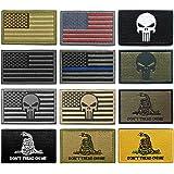 WZT Bundle 12 pieces american flag Tactical Military Morale Patch Set