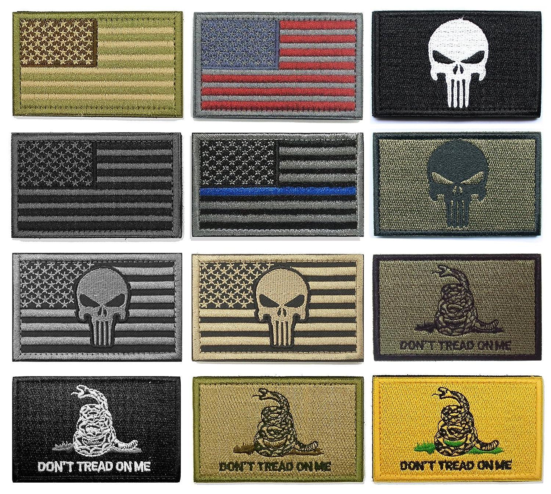 WZT Bundle 12 pieces american flag Tactical Military Morale Patch Set 4337021052