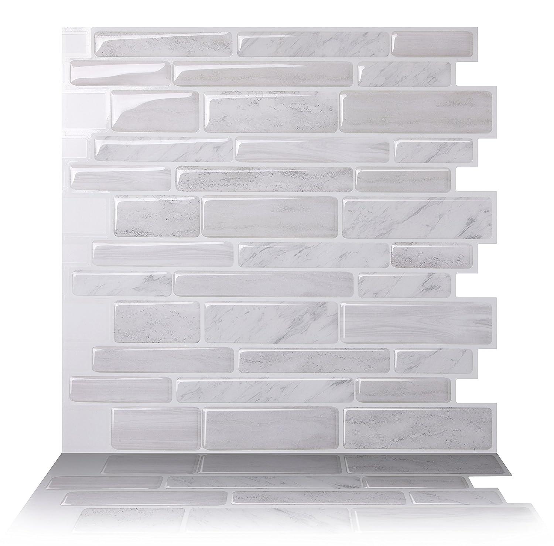 Tic Tac Tiles Smart Peel And Stick Wall Tiles Self Stick Wall Backsplash Tile