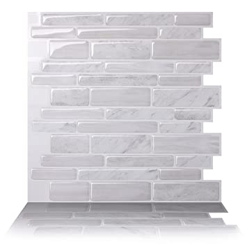 tic tac tiles antimold peel and stick wall tile in polito white 10