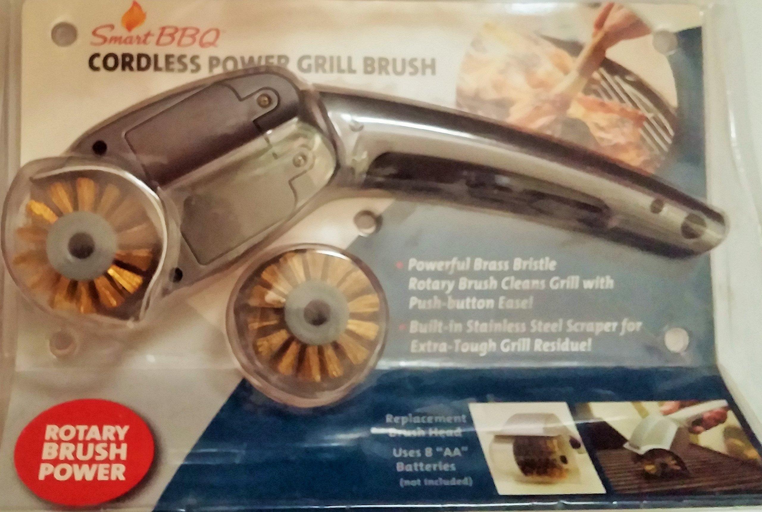 Smart BBQ Cordless Power Grill Brush Plus Replacement Brush Head