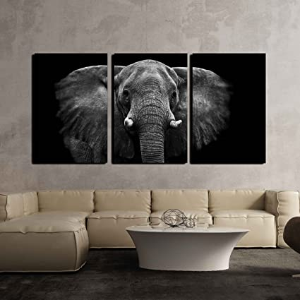 Wall26   3 Piece Canvas Wall Art   Elephant   Modern Home Decor Stretched  And Framed