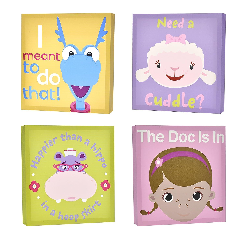 Amazon.com: Disney Doc McStuffins Canvas Wall Art (4-Piece): Toys ...