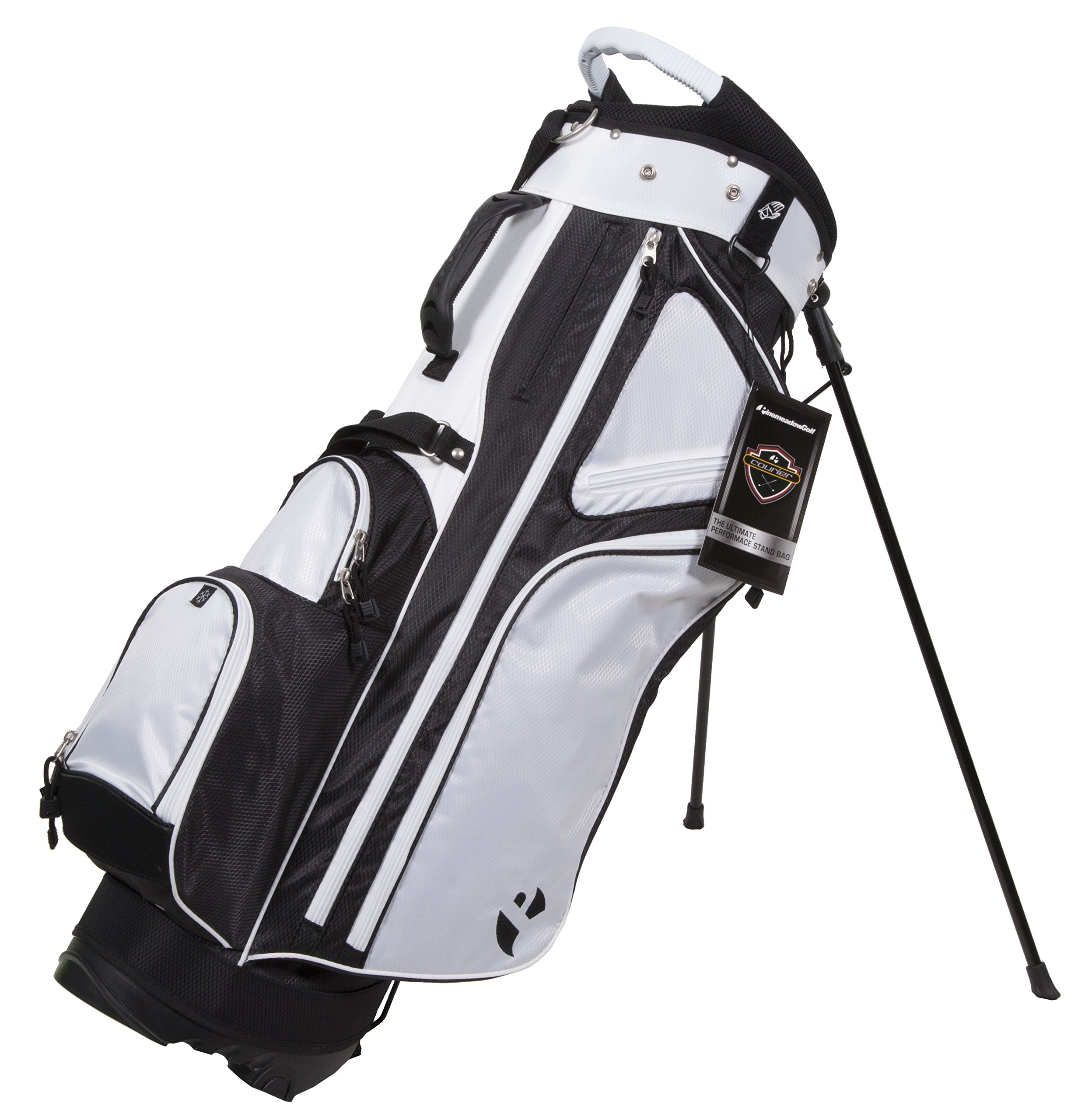 Pinemeadow Golf Courier 3.0 Stand Bag, Black/White