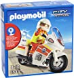 Playmobil Guardacostas - Moto de emergencias con luz, playset (5544)