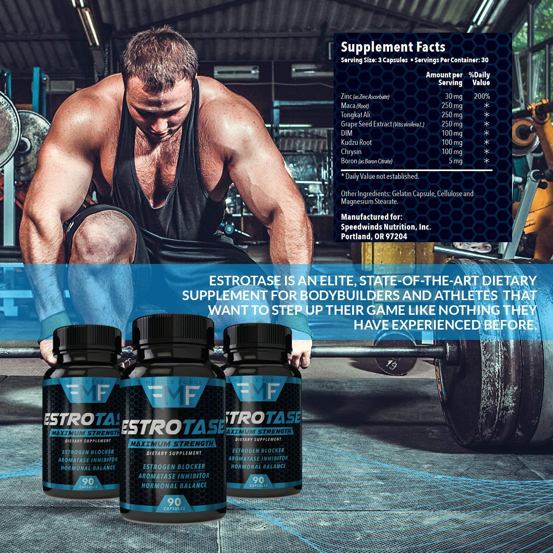 ESTROTASE Maximum Strength Estrogen Blocker - Natural Aromatase Inhibitor -  Hormone Balancer