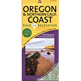 Oregon & Northern California Coast Road & Recreation Map, 8th Edition