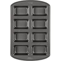 Wilton 2105-3972 Perfect Results Non-Stick Mini Loaf Pan, 8-Cavity 15.2 IN x 9.5 IN x 1.6