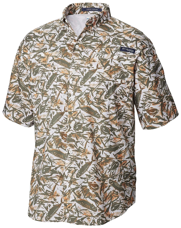 Wicking Fabric Columbia Mens PFG Super Tamiami Short Sleeve Shirt UPF 40 Sun Protection