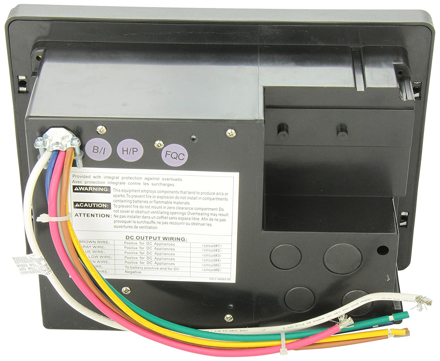 91h5ukcMsUL._SL1500_ amazon com wfco wf 8735 p black 30 amp power center automotive wf 8725 p wiring diagram at nearapp.co