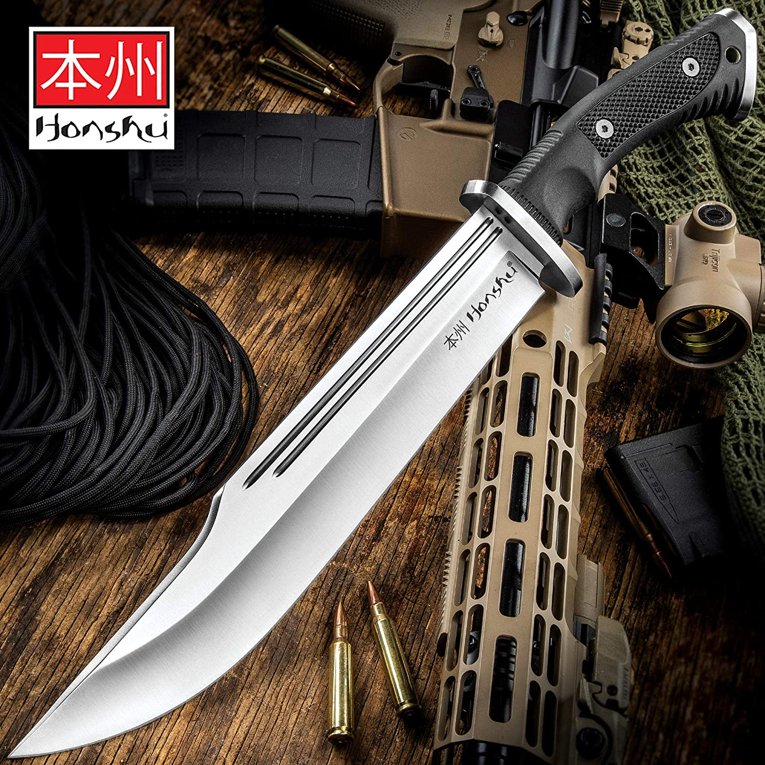 Honshu Conqueror Bowie Knife and Sheath