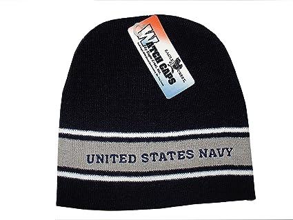 Amazon.com  Offically Licensed Embroidered USN Navy Blue Grey Stripe ... 873afc2da19