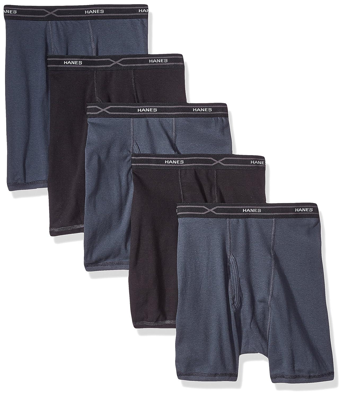 Hanes Men's 5-Pack X-Temp Comfort Cool Assorted Boxer Briefs 973FSV