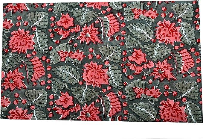 Hand block print cotton loose fabric,Cotton voile fabric,Jaipuri cotton block print fabric,Indian cotton fabric,Cotton fabric for dresses