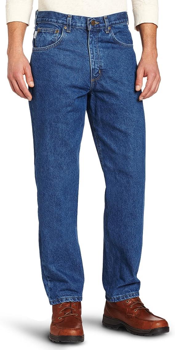Model has worn dark blue jeans with dark brown shoes