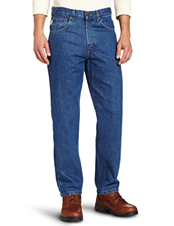 d88f95644f2 Carhartt Men's Five Pocket Tapered Leg Jean at Amazon Men's Clothing ...