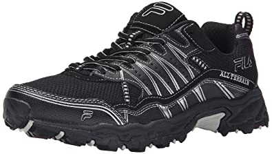 Mens Fila At Tractile Sneakers Black/Black/Metallic Silver KBC98075