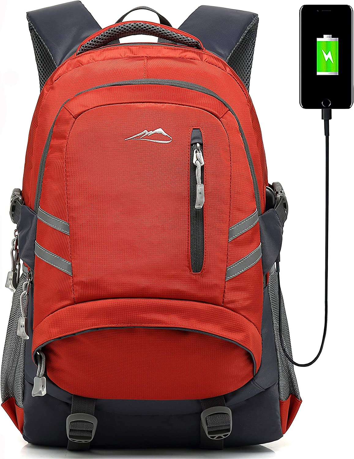 ProEtrade Backpack Bookbag for School College Student Travel Business with USB Charging Port