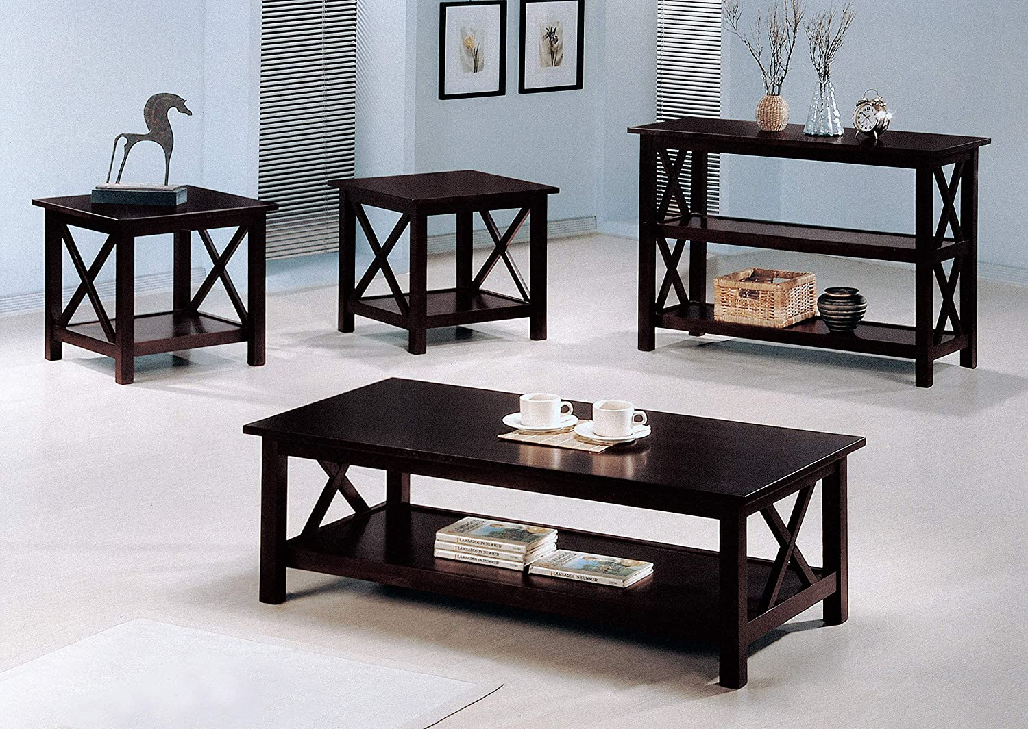 Briarcliff 3 Piece Occasional Table Set Dark Merlot Kitchen Dining