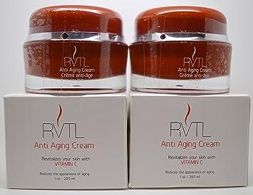 2 X Rvtl Anti Ageing Cream Rivatilizza The Skin With Vitamin C