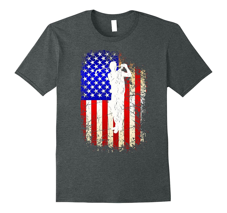 4th of July Golf Shirt Patriotic American Flag Gift T-Shirt-PL