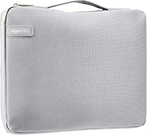 "AmazonBasics 15.6"" Professional Laptop Case Sleeve Bag (With Retractable Handle) - Grey"