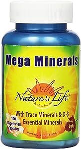 Nature's Life Minerals Veg Capsules, Mega, 100 Count