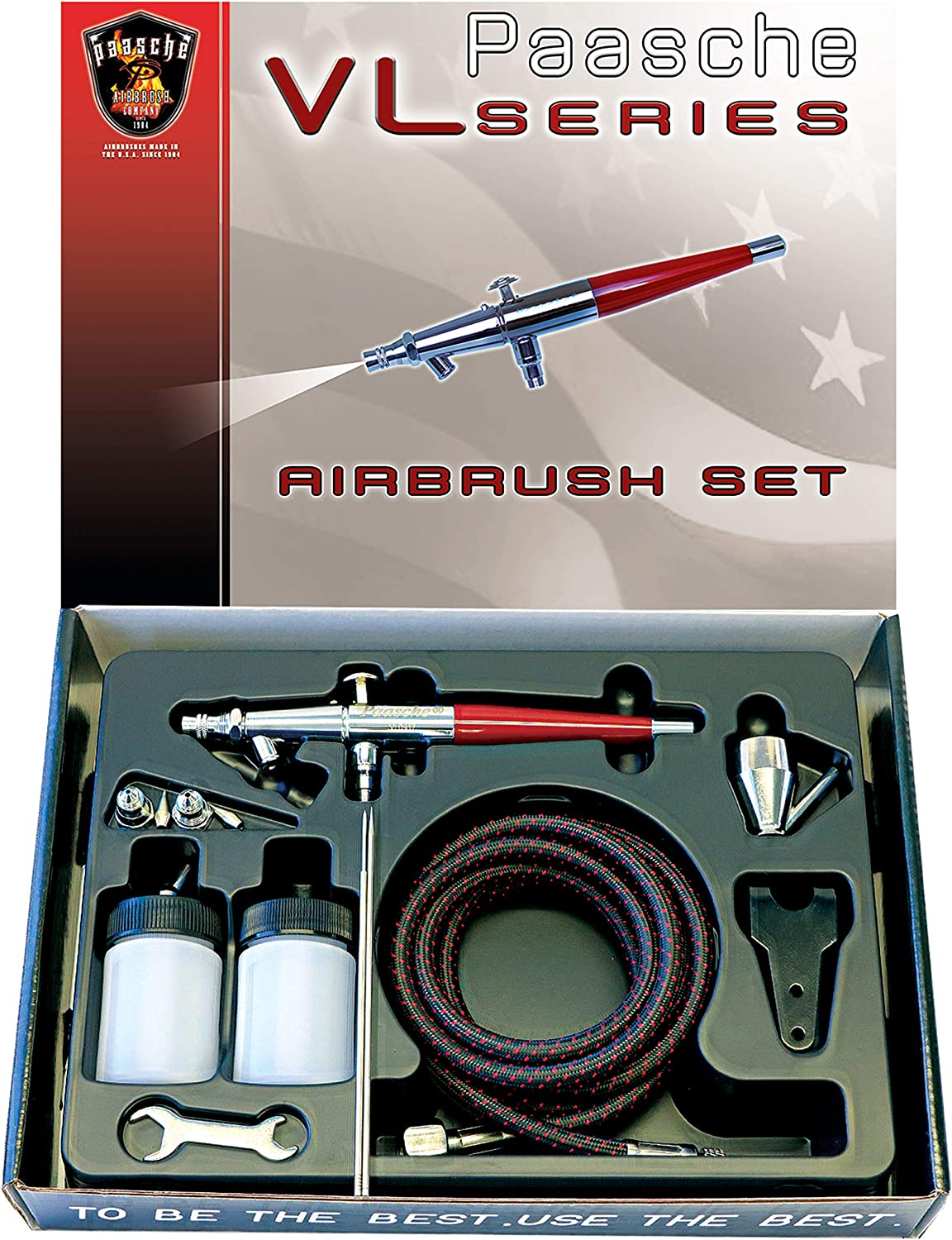 Paasche TG-100D Gravity Feed Airbrush /& Compressor Package