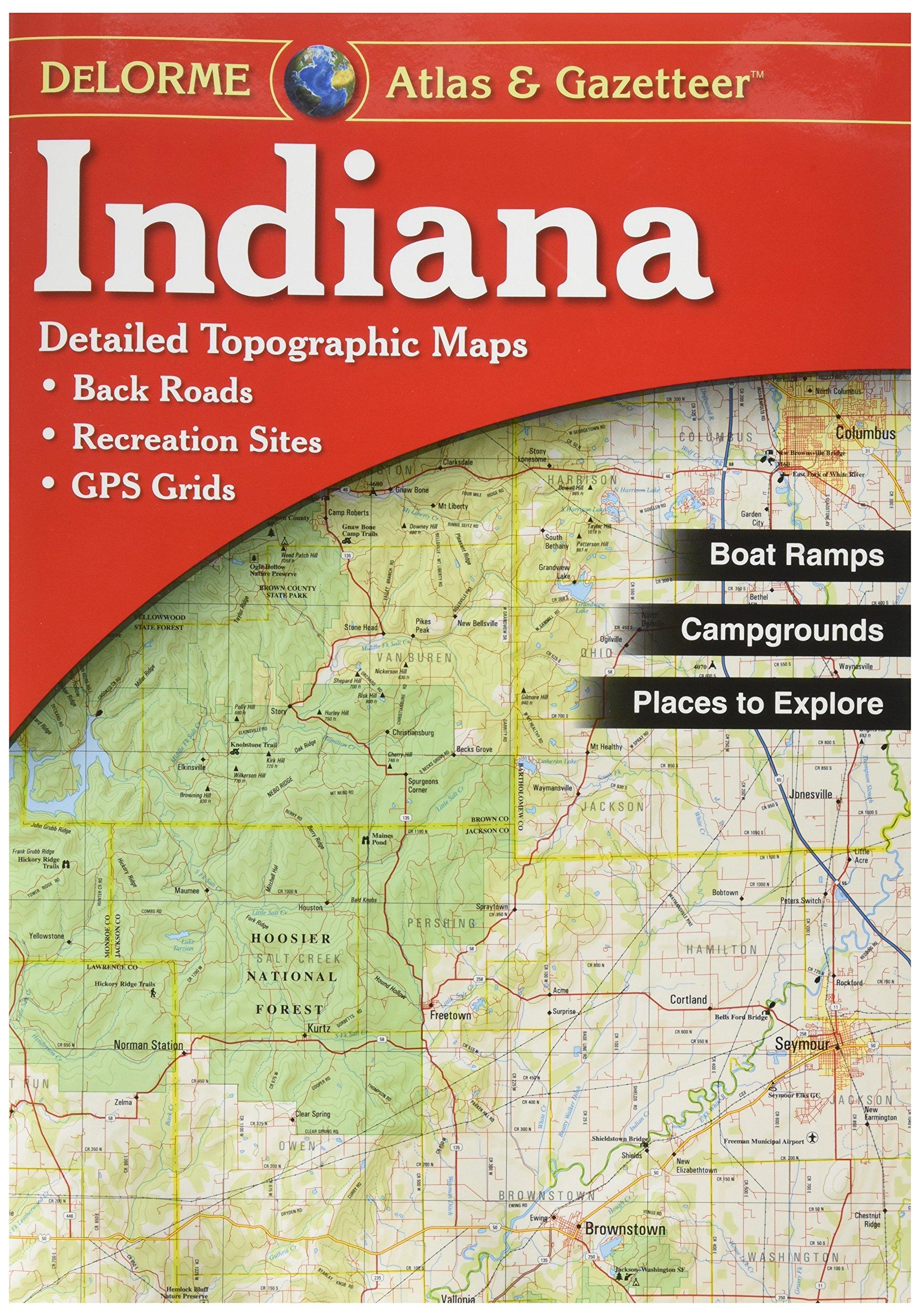 Garmin DeLorme Atlas & Gazetteer Paper Maps- Indiana, AA-001383-000