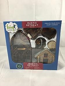 Rustic Retreat fairy garden kit (12 pc)