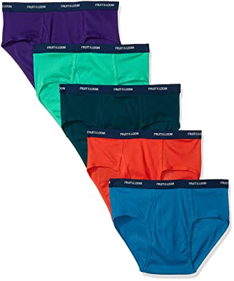 46420e6381b5 Fruit of the Loom Men's Low-Rise Brief (Pack of Five) at Amazon Men's  Clothing store: Briefs Underwear