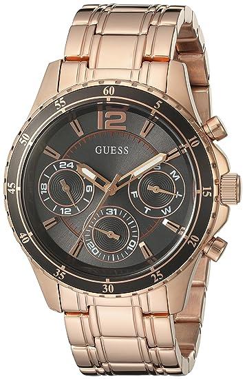 Guess Mujer u0639l2 Moderno multifunción Gris Classic Rose Gold-Tone Reloj de Mujer con Esfera: Guess: Amazon.es: Relojes