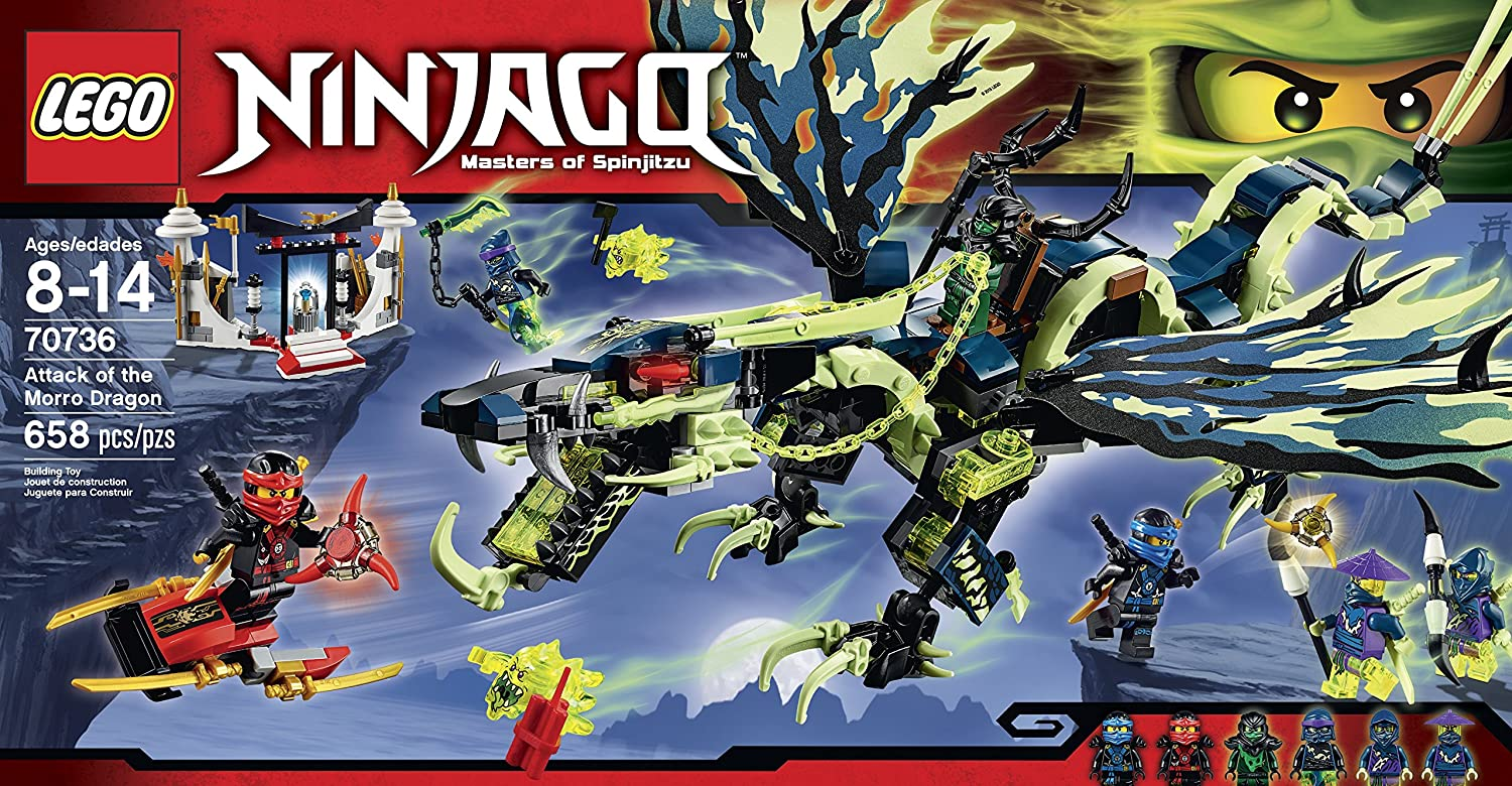 amazoncom lego ninjago 70736 attack of the morro dragon building kit toys games
