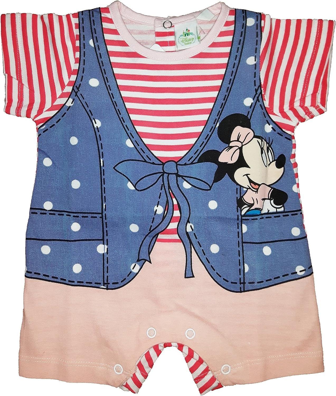 WD101101 Disney Tutina neonata Puro Cotone Mezza Manica Minnie Art