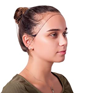 """144 Pack Black Thin Nylon Hairnets 22"""" size. Disposable black hairnets. Protective Hair Nets with Elastic Edge. Stretchable Hairnet Caps for Non-Medical Use. Lightweight, Breathable. Wholesale price."""