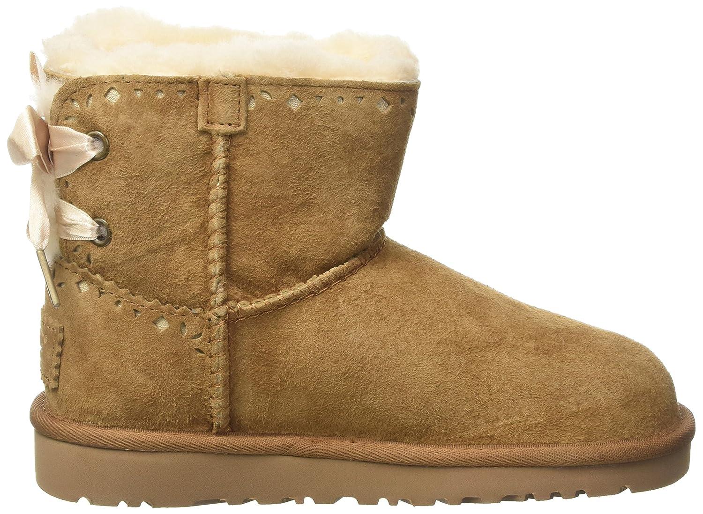 UGG Australia Dixi Flora Perf, Botines Unisex niños, Marrone (Chestnut), 32 EU: Amazon.es: Zapatos y complementos