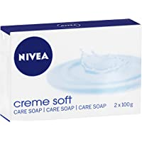 NIVEA Crème Soft Soap Bar, 2 x 100g