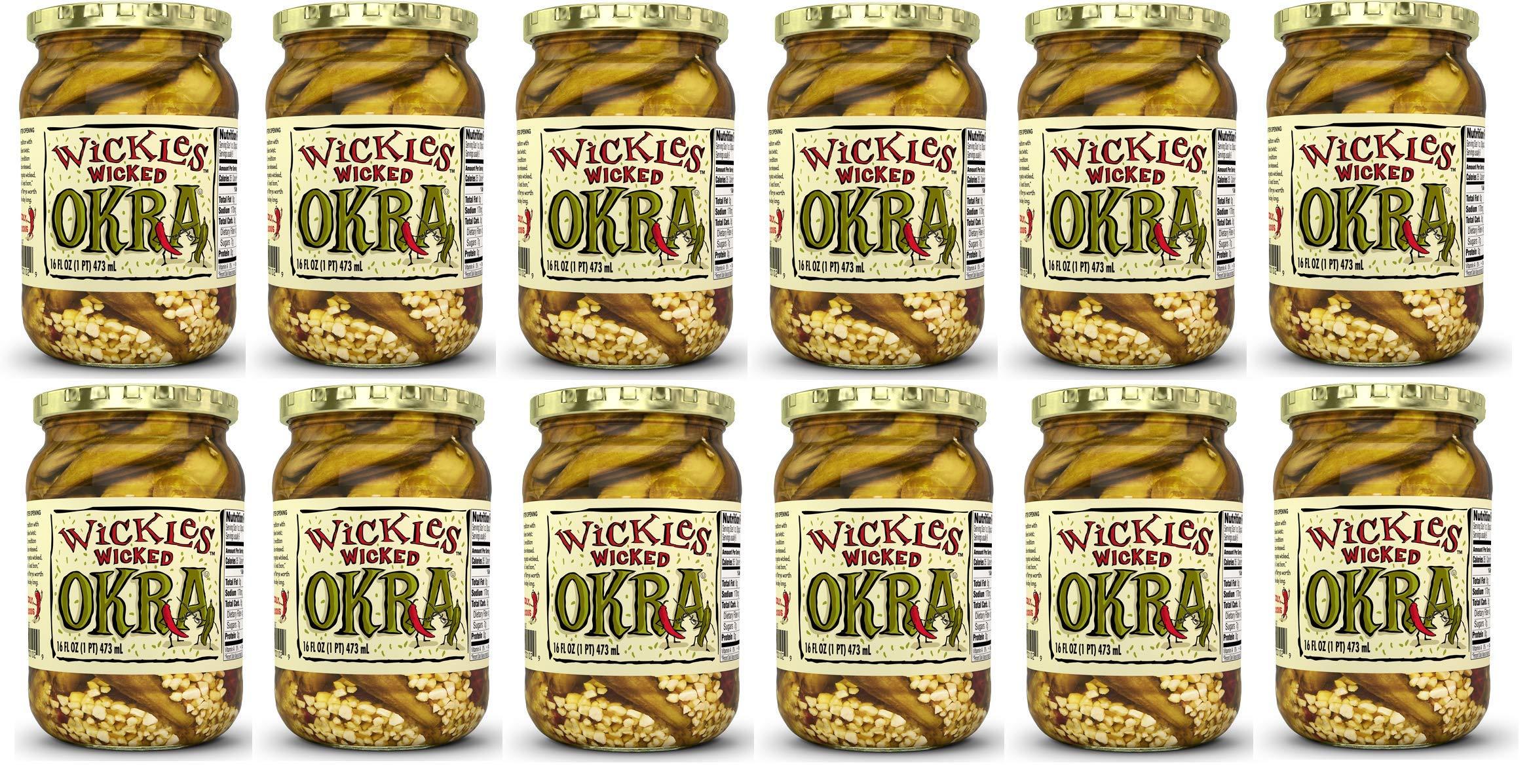 Wickles Wicked Okra, 16 Ounce -- 12 per case.