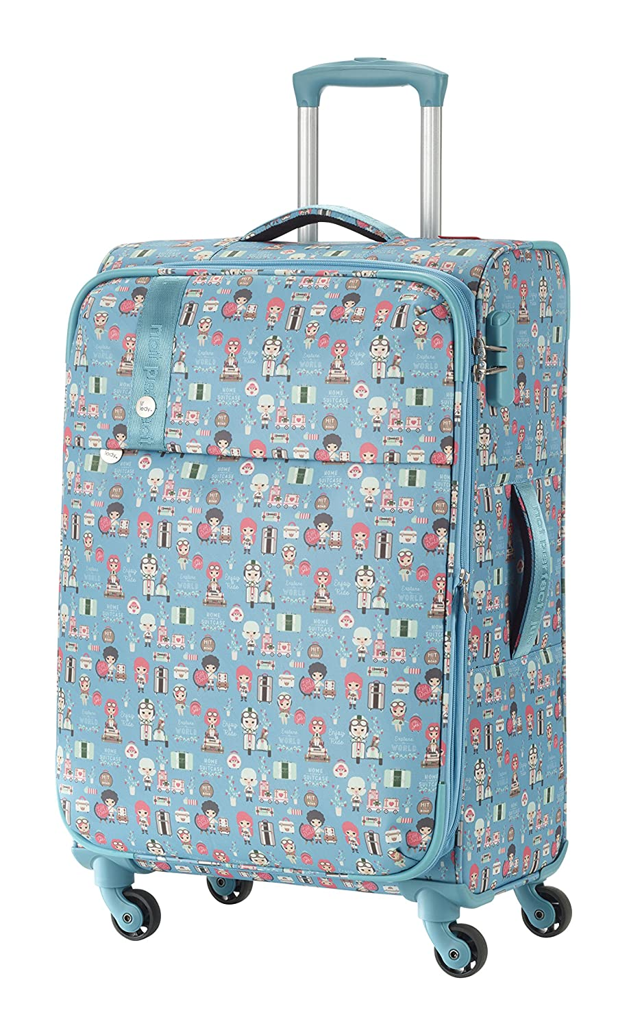 c017862f5e Travelite Lil'Ledy Bagage Cabine, 66 cm, 70 liters, Turquoise (Türkis):  Amazon.fr: Bagages