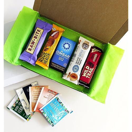 Letterbox Friendly Healthy Vegan Snack & Tea Box