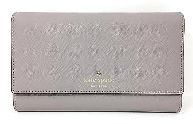 4158b26461 Kate Spade New York Mikas Pond Phoenix Trifold Leather Wallet (Nouveau  Neutral)
