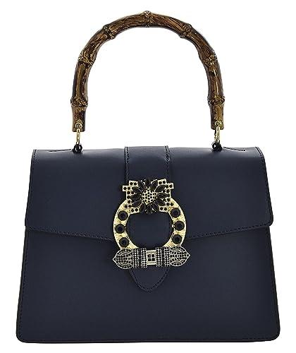 Handtasche Damen Henkeltaschen (Denim Blue+ PU Silber) Kaxidy F1BSiO